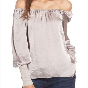 Bailey 44 Working Title Satin Blouse